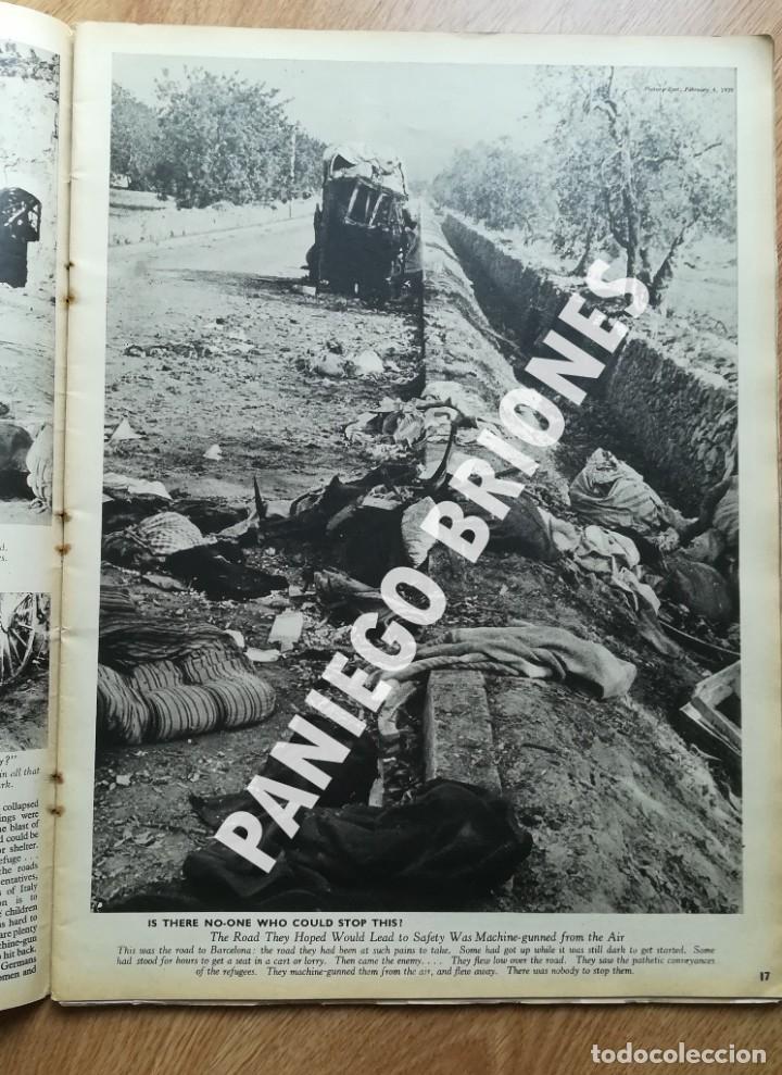Libros antiguos: PICTURE POST 1939 - GUERRA CIVIL - ROBERT CAPA - REVISTA ORIGINAL - CAMINO DEL EXILIO - Foto 4 - 165738078