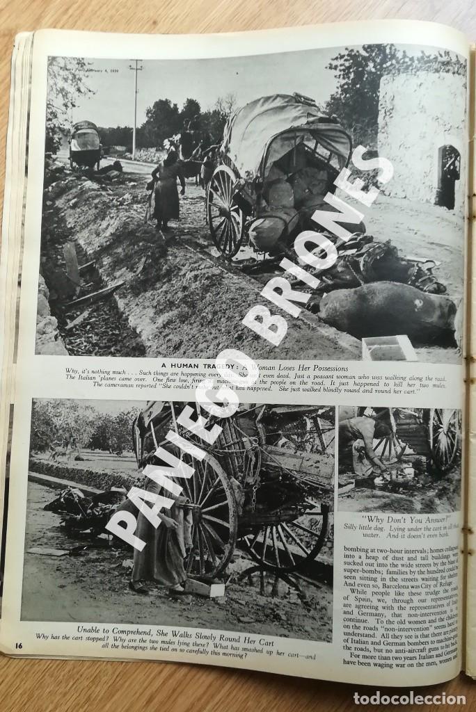Libros antiguos: PICTURE POST 1939 - GUERRA CIVIL - ROBERT CAPA - REVISTA ORIGINAL - CAMINO DEL EXILIO - Foto 5 - 165738078