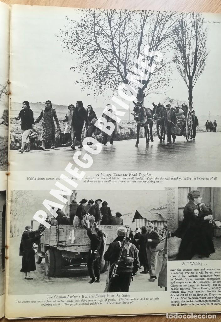 Libros antiguos: PICTURE POST 1939 - GUERRA CIVIL - ROBERT CAPA - REVISTA ORIGINAL - CAMINO DEL EXILIO - Foto 6 - 165738078