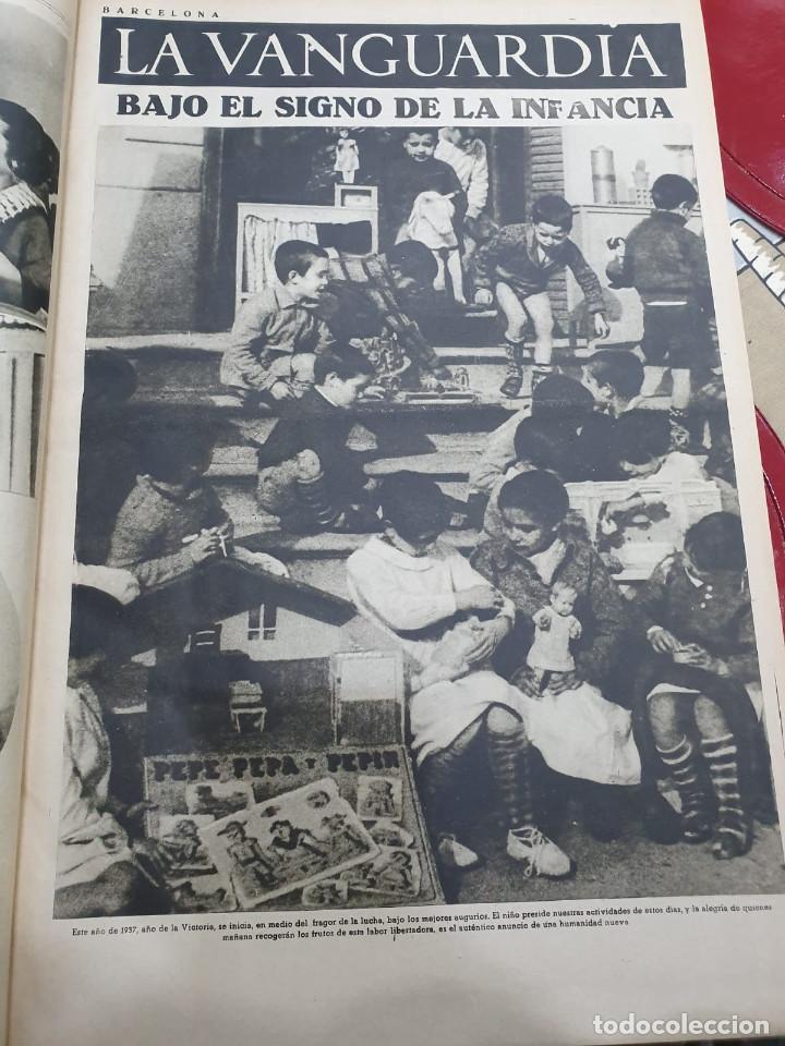 Libros antiguos: Tomo I con 75 notas gráficas La Vanguardia, del bando Republicano, muy buen estado, 1937 - Foto 4 - 167942420