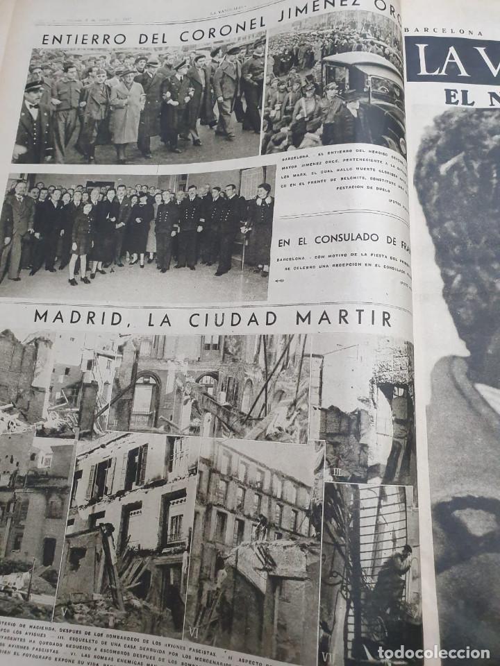 Libros antiguos: Tomo I con 75 notas gráficas La Vanguardia, del bando Republicano, muy buen estado, 1937 - Foto 5 - 167942420