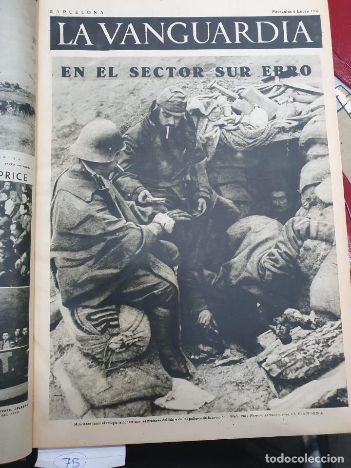 Libros antiguos: Tomo I con 75 notas gráficas La Vanguardia, del bando Republicano, muy buen estado, 1937 - Foto 6 - 167942420