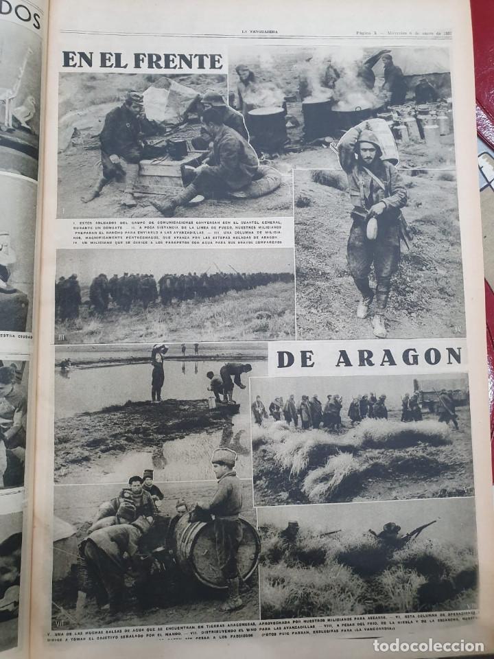 Libros antiguos: Tomo I con 75 notas gráficas La Vanguardia, del bando Republicano, muy buen estado, 1937 - Foto 7 - 167942420