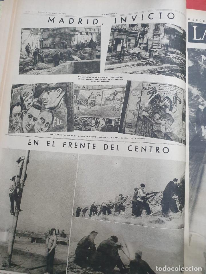 Libros antiguos: Tomo I con 75 notas gráficas La Vanguardia, del bando Republicano, muy buen estado, 1937 - Foto 8 - 167942420