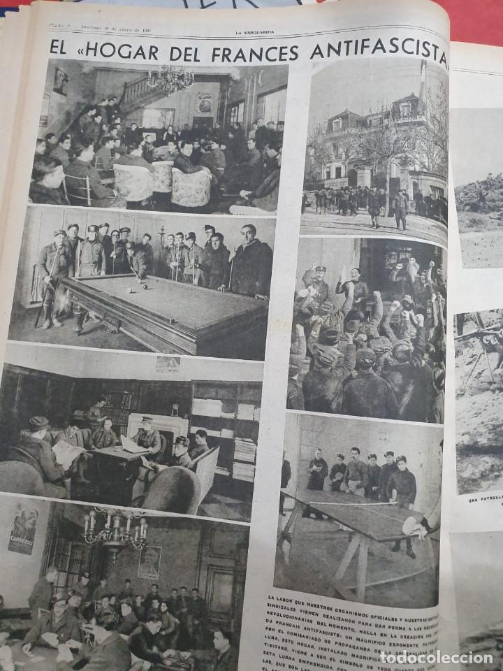 Libros antiguos: Tomo I con 75 notas gráficas La Vanguardia, del bando Republicano, muy buen estado, 1937 - Foto 9 - 167942420