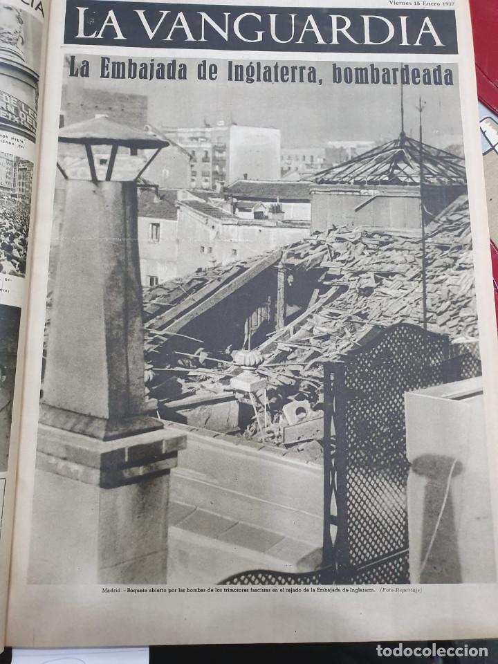 Libros antiguos: Tomo I con 75 notas gráficas La Vanguardia, del bando Republicano, muy buen estado, 1937 - Foto 10 - 167942420