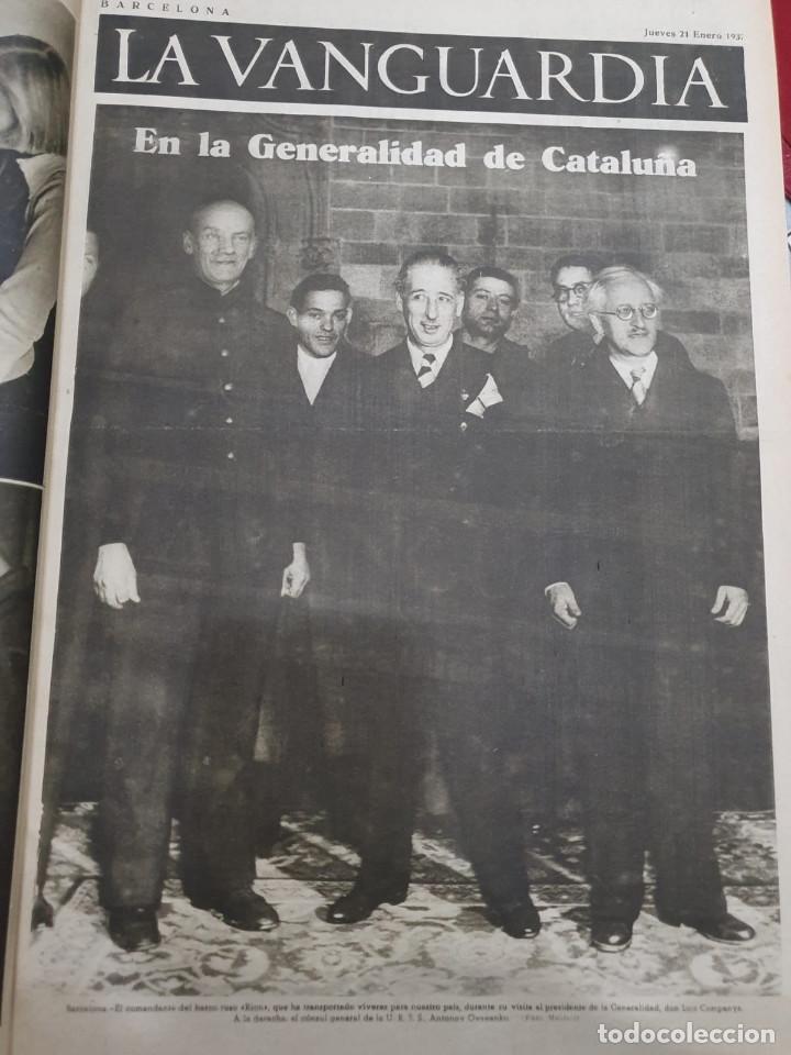 Libros antiguos: Tomo I con 75 notas gráficas La Vanguardia, del bando Republicano, muy buen estado, 1937 - Foto 11 - 167942420
