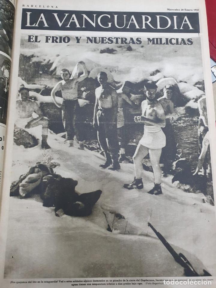 Libros antiguos: Tomo I con 75 notas gráficas La Vanguardia, del bando Republicano, muy buen estado, 1937 - Foto 12 - 167942420