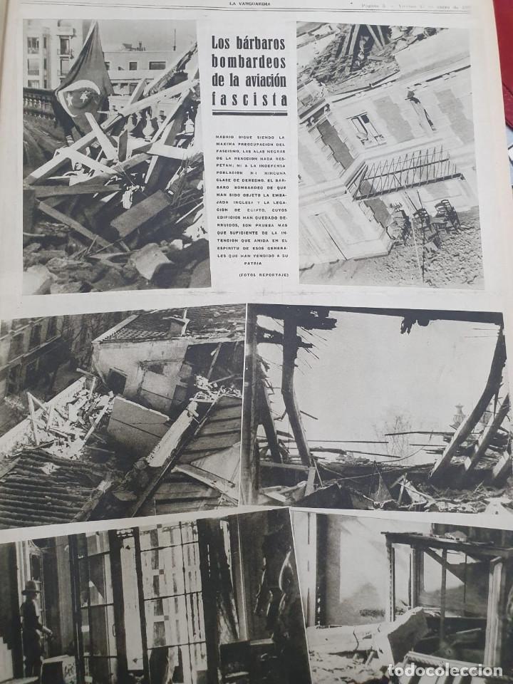 Libros antiguos: Tomo I con 75 notas gráficas La Vanguardia, del bando Republicano, muy buen estado, 1937 - Foto 13 - 167942420