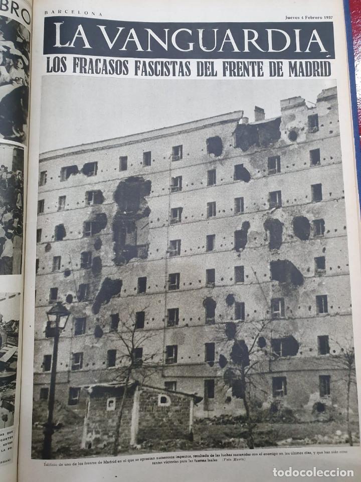 Libros antiguos: Tomo I con 75 notas gráficas La Vanguardia, del bando Republicano, muy buen estado, 1937 - Foto 14 - 167942420