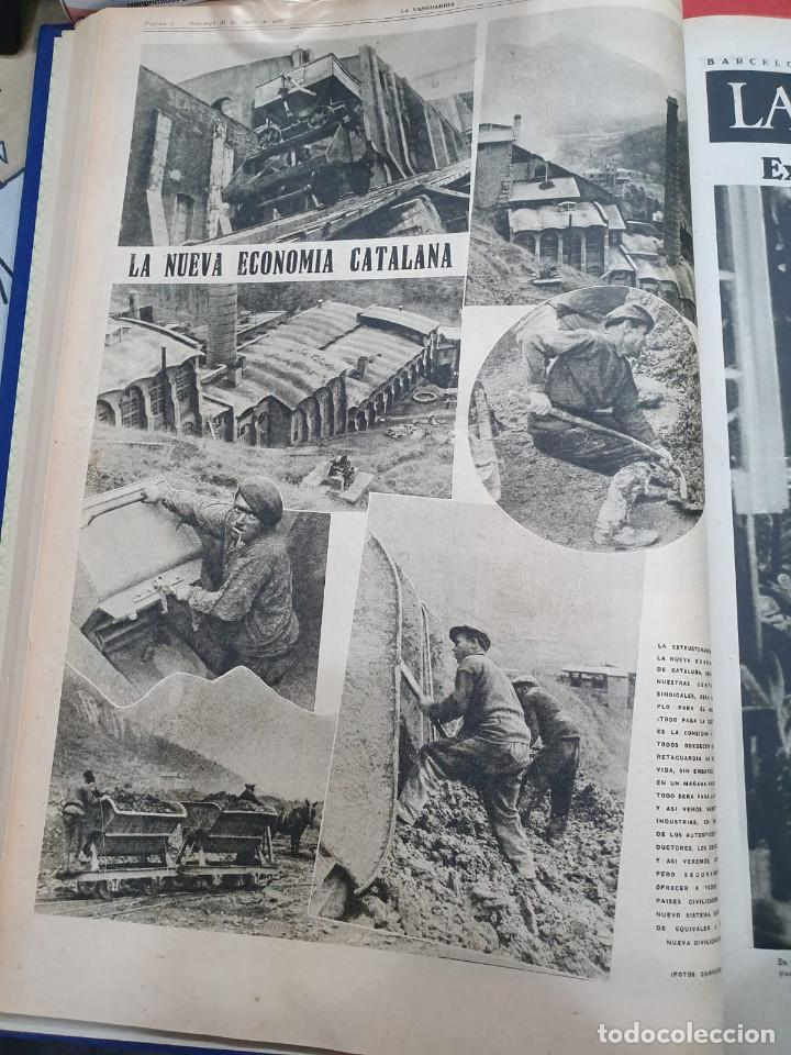 Libros antiguos: Tomo I con 75 notas gráficas La Vanguardia, del bando Republicano, muy buen estado, 1937 - Foto 15 - 167942420