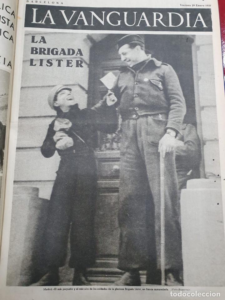 TOMO I CON 75 NOTAS GRÁFICAS LA VANGUARDIA, DEL BANDO REPUBLICANO, MUY BUEN ESTADO, 1937 (Libros antiguos (hasta 1936), raros y curiosos - Historia - Guerra Civil Española)