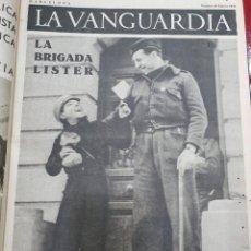 Libros antiguos: TOMO I CON 75 NOTAS GRÁFICAS LA VANGUARDIA, DEL BANDO REPUBLICANO, MUY BUEN ESTADO, 1937. Lote 167942420