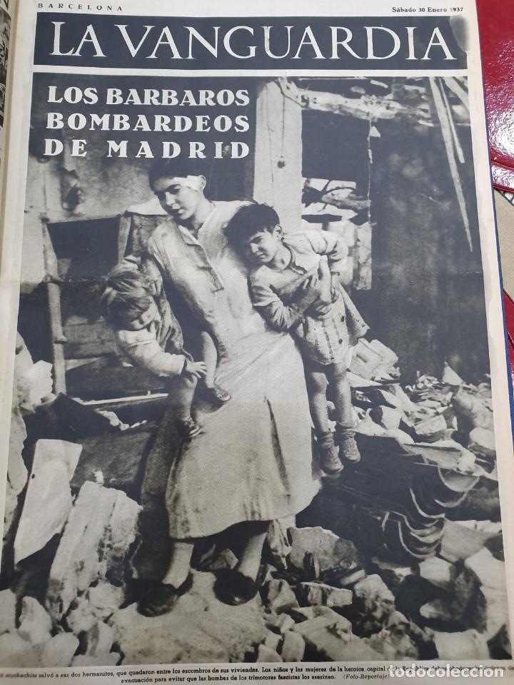 Libros antiguos: Tomo I con 75 notas gráficas La Vanguardia, del bando Republicano, muy buen estado, 1937 - Foto 16 - 167942420