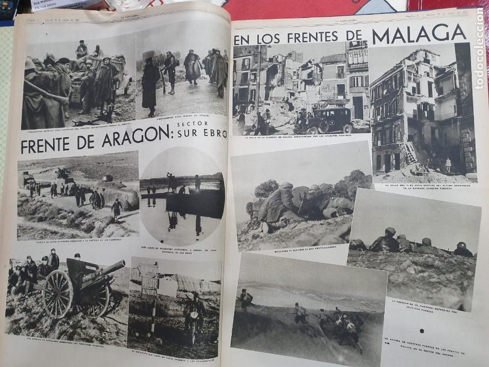 Libros antiguos: Tomo I con 75 notas gráficas La Vanguardia, del bando Republicano, muy buen estado, 1937 - Foto 18 - 167942420