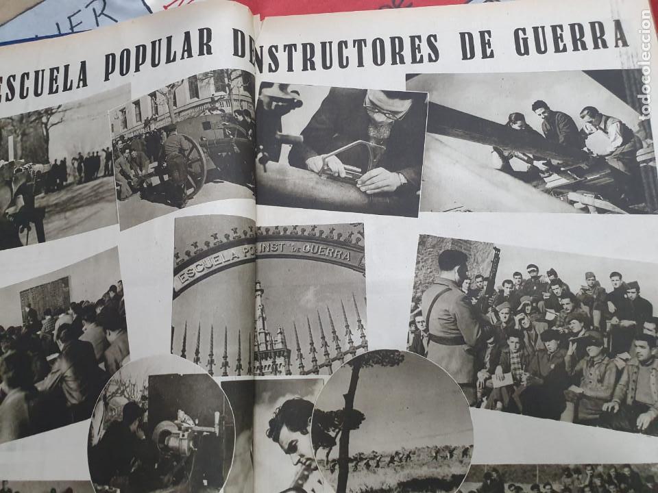 Libros antiguos: Tomo I con 75 notas gráficas La Vanguardia, del bando Republicano, muy buen estado, 1937 - Foto 20 - 167942420
