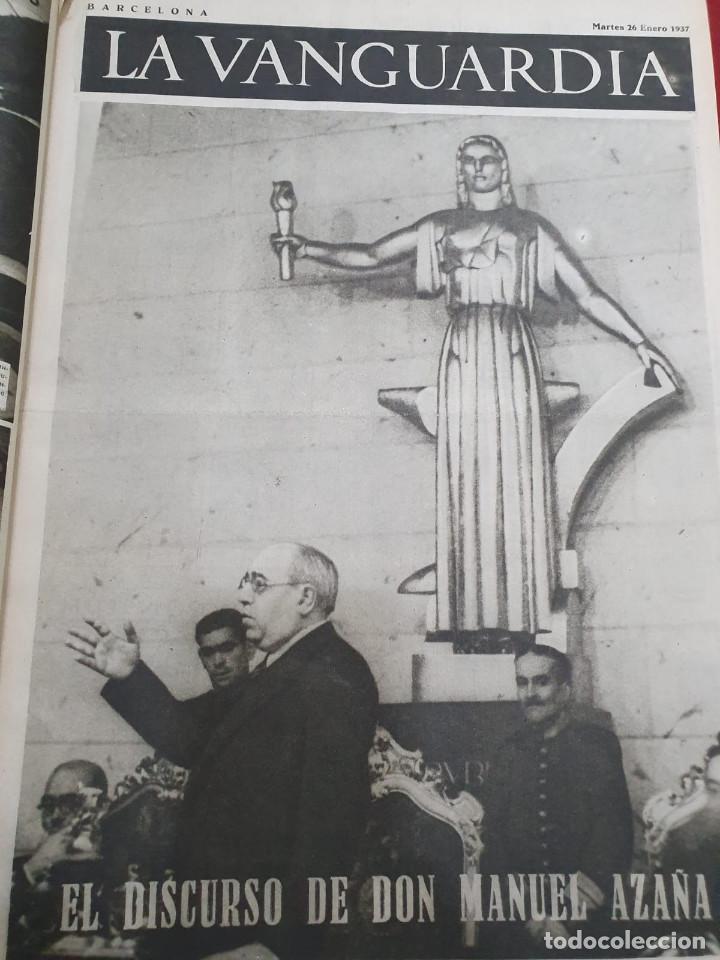 Libros antiguos: Tomo I con 75 notas gráficas La Vanguardia, del bando Republicano, muy buen estado, 1937 - Foto 21 - 167942420