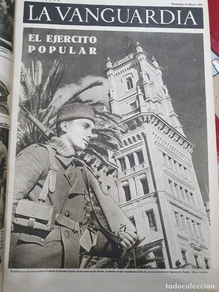 Libros antiguos: Tomo I con 75 notas gráficas La Vanguardia, del bando Republicano, muy buen estado, 1937 - Foto 23 - 167942420