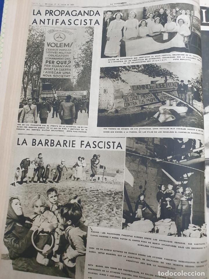 Libros antiguos: Tomo I con 75 notas gráficas La Vanguardia, del bando Republicano, muy buen estado, 1937 - Foto 24 - 167942420