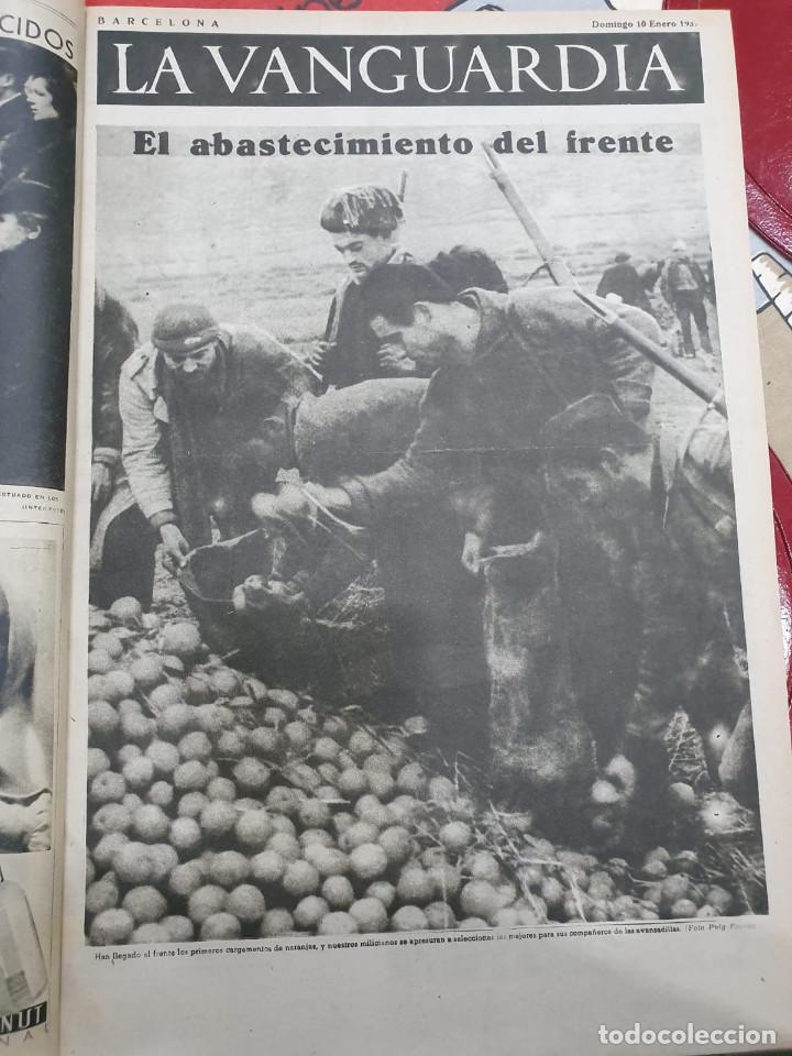 Libros antiguos: Tomo I con 75 notas gráficas La Vanguardia, del bando Republicano, muy buen estado, 1937 - Foto 25 - 167942420