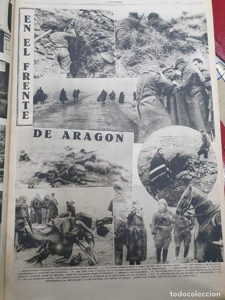 Libros antiguos: Tomo I con 75 notas gráficas La Vanguardia, del bando Republicano, muy buen estado, 1937 - Foto 27 - 167942420
