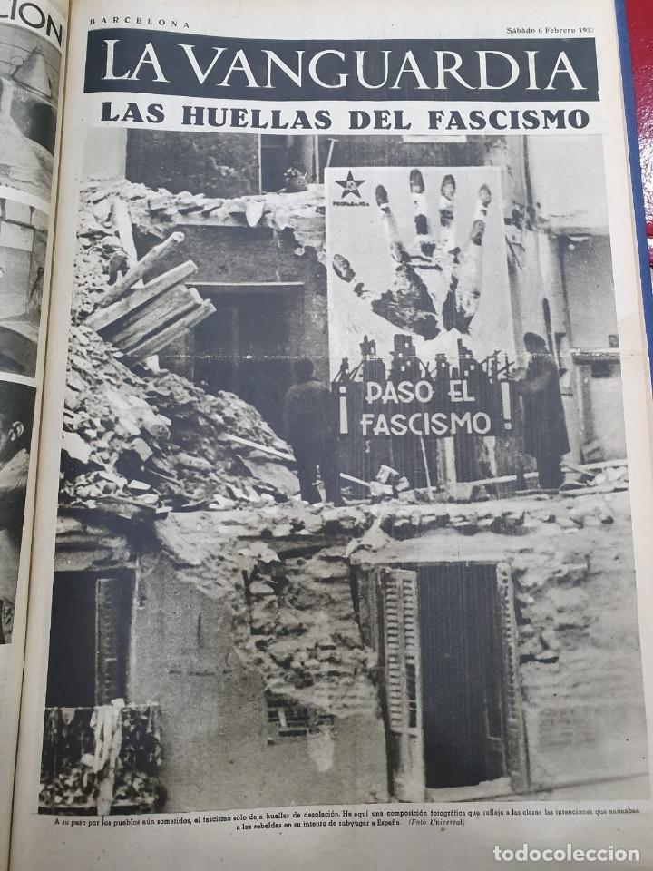 Libros antiguos: Tomo I con 75 notas gráficas La Vanguardia, del bando Republicano, muy buen estado, 1937 - Foto 28 - 167942420
