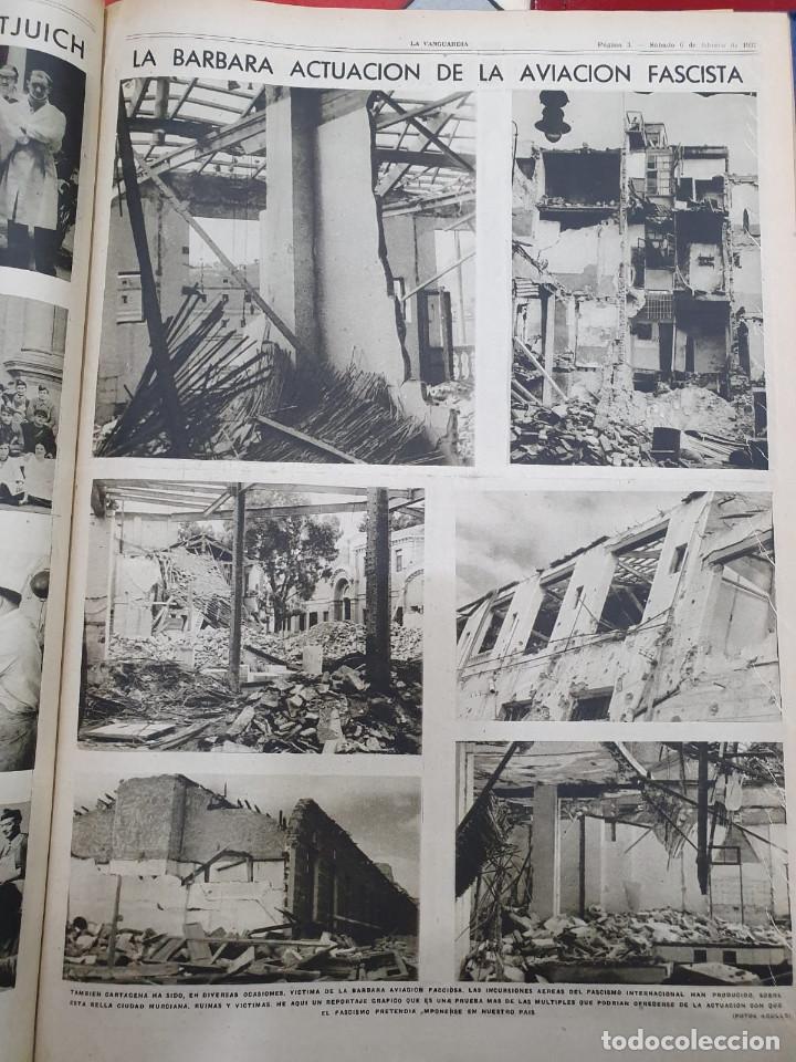 Libros antiguos: Tomo I con 75 notas gráficas La Vanguardia, del bando Republicano, muy buen estado, 1937 - Foto 29 - 167942420