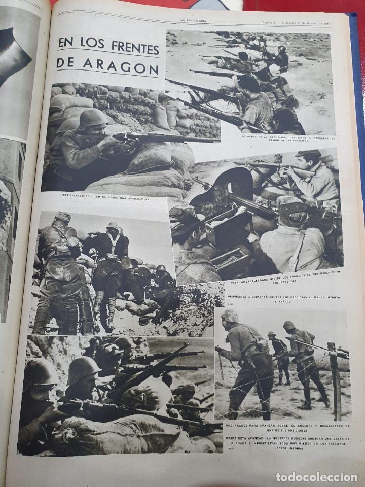 Libros antiguos: Tomo I con 75 notas gráficas La Vanguardia, del bando Republicano, muy buen estado, 1937 - Foto 30 - 167942420