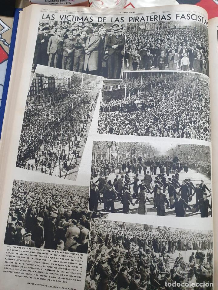Libros antiguos: Tomo I con 75 notas gráficas La Vanguardia, del bando Republicano, muy buen estado, 1937 - Foto 31 - 167942420