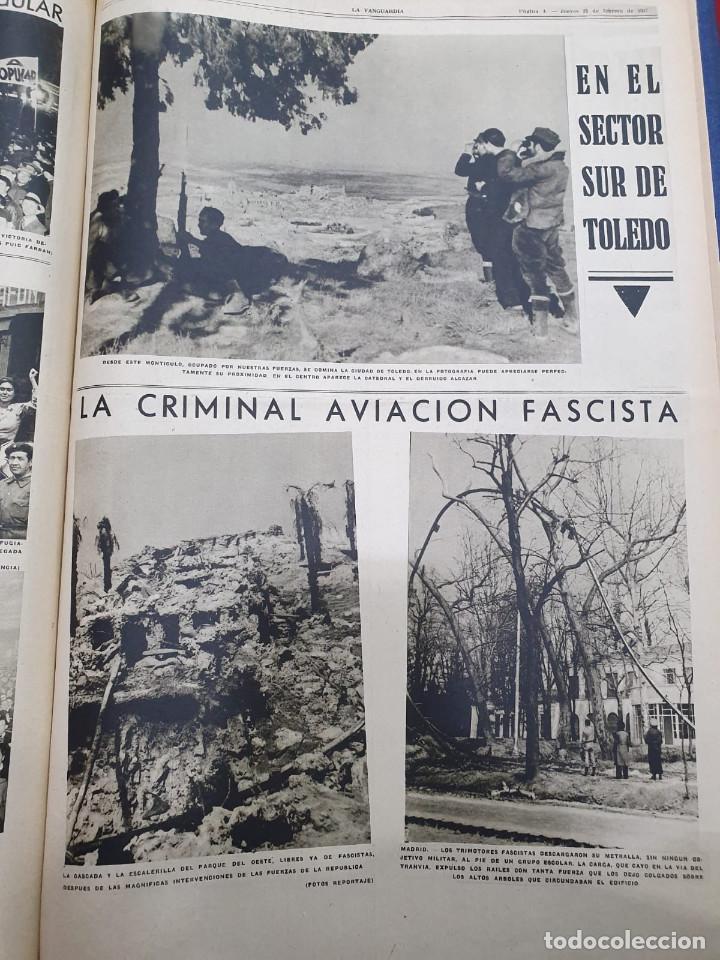 Libros antiguos: Tomo I con 75 notas gráficas La Vanguardia, del bando Republicano, muy buen estado, 1937 - Foto 32 - 167942420