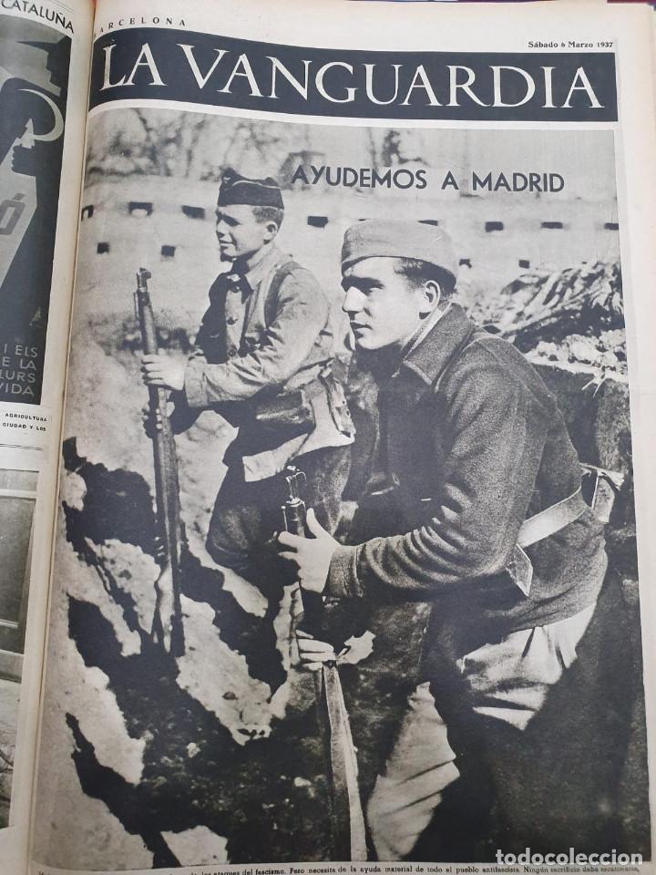 Libros antiguos: Tomo I con 75 notas gráficas La Vanguardia, del bando Republicano, muy buen estado, 1937 - Foto 34 - 167942420
