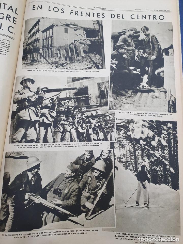 Libros antiguos: Tomo I con 75 notas gráficas La Vanguardia, del bando Republicano, muy buen estado, 1937 - Foto 35 - 167942420