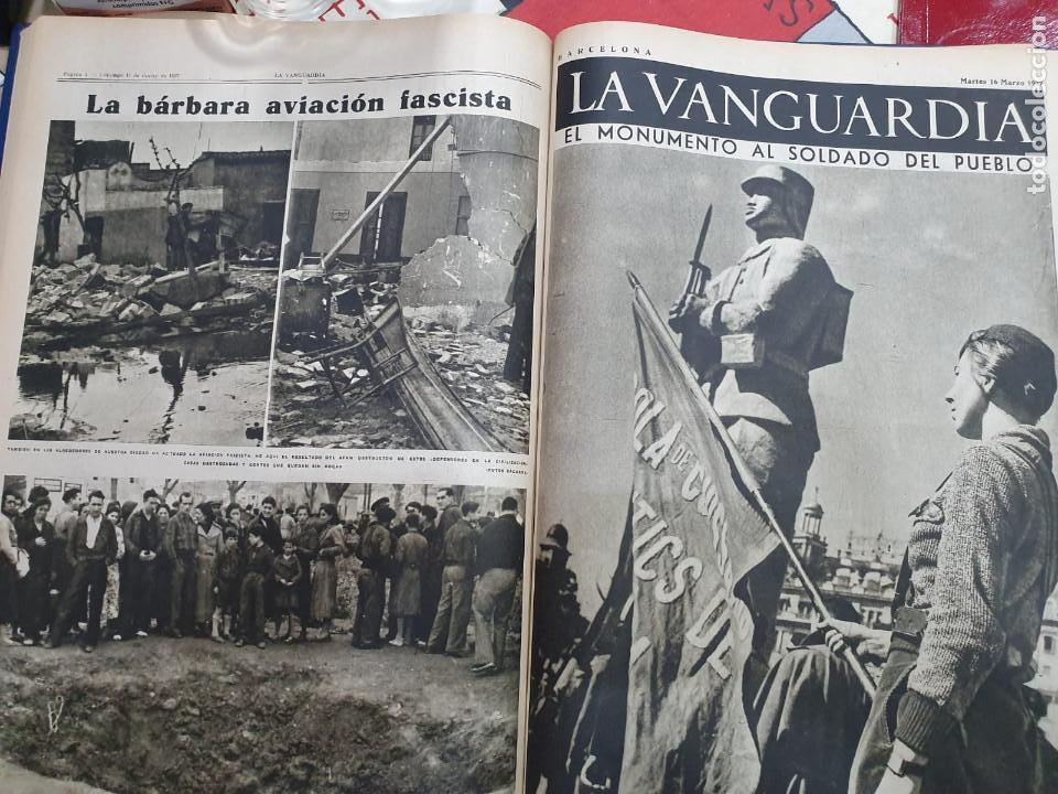 Libros antiguos: Tomo I con 75 notas gráficas La Vanguardia, del bando Republicano, muy buen estado, 1937 - Foto 36 - 167942420
