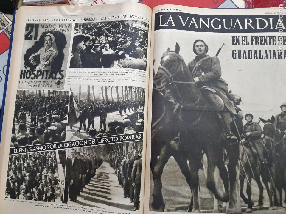Libros antiguos: Tomo I con 75 notas gráficas La Vanguardia, del bando Republicano, muy buen estado, 1937 - Foto 37 - 167942420