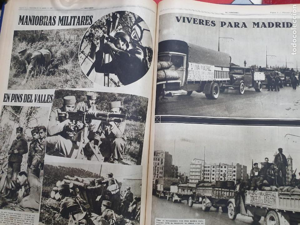 Libros antiguos: Tomo I con 75 notas gráficas La Vanguardia, del bando Republicano, muy buen estado, 1937 - Foto 38 - 167942420