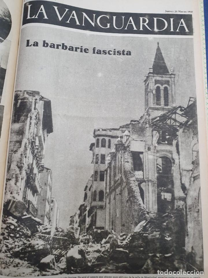 Libros antiguos: Tomo I con 75 notas gráficas La Vanguardia, del bando Republicano, muy buen estado, 1937 - Foto 39 - 167942420