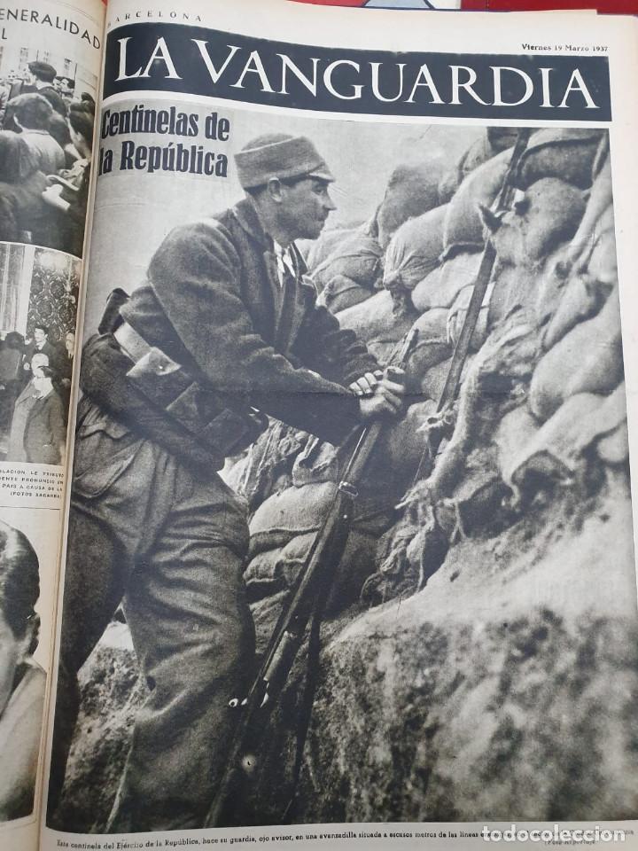 Libros antiguos: Tomo I con 75 notas gráficas La Vanguardia, del bando Republicano, muy buen estado, 1937 - Foto 40 - 167942420