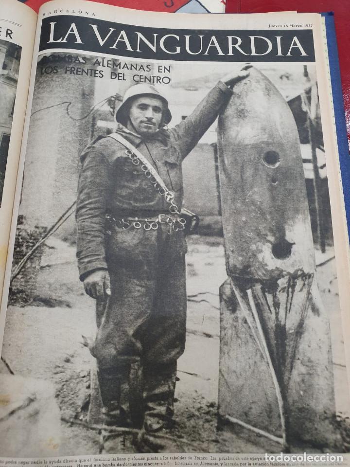 Libros antiguos: Tomo I con 75 notas gráficas La Vanguardia, del bando Republicano, muy buen estado, 1937 - Foto 41 - 167942420