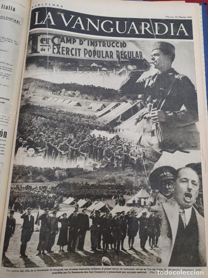 Libros antiguos: Tomo I con 75 notas gráficas La Vanguardia, del bando Republicano, muy buen estado, 1937 - Foto 42 - 167942420