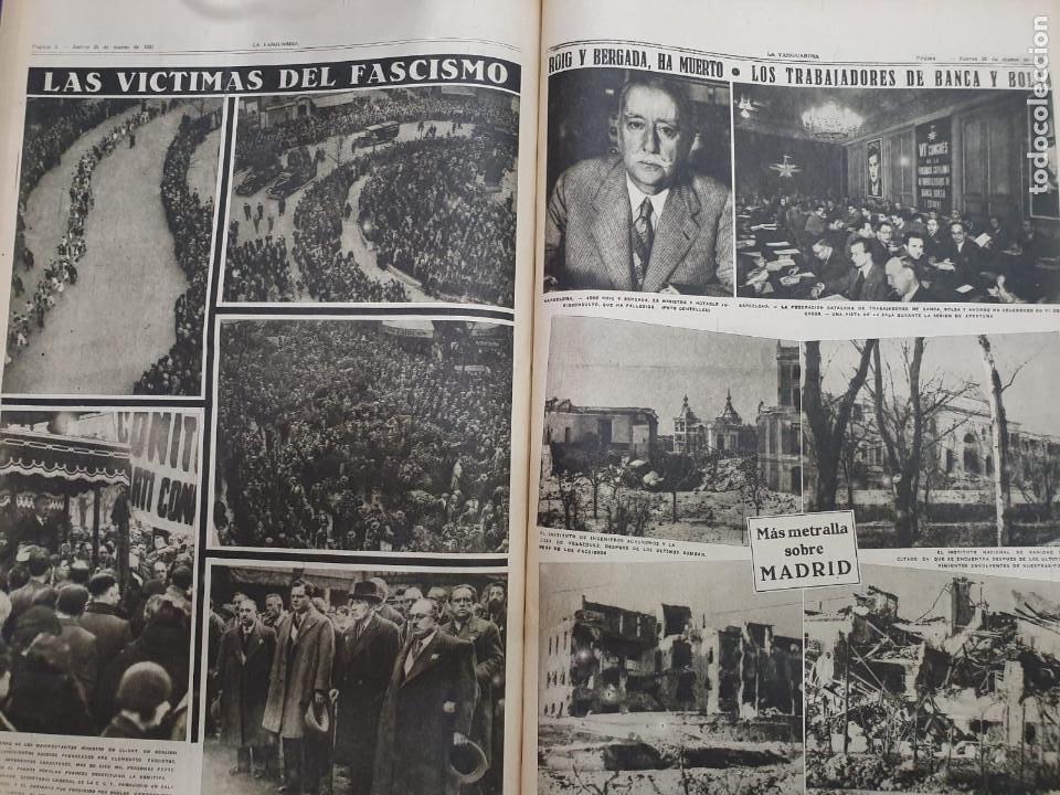 Libros antiguos: Tomo I con 75 notas gráficas La Vanguardia, del bando Republicano, muy buen estado, 1937 - Foto 43 - 167942420