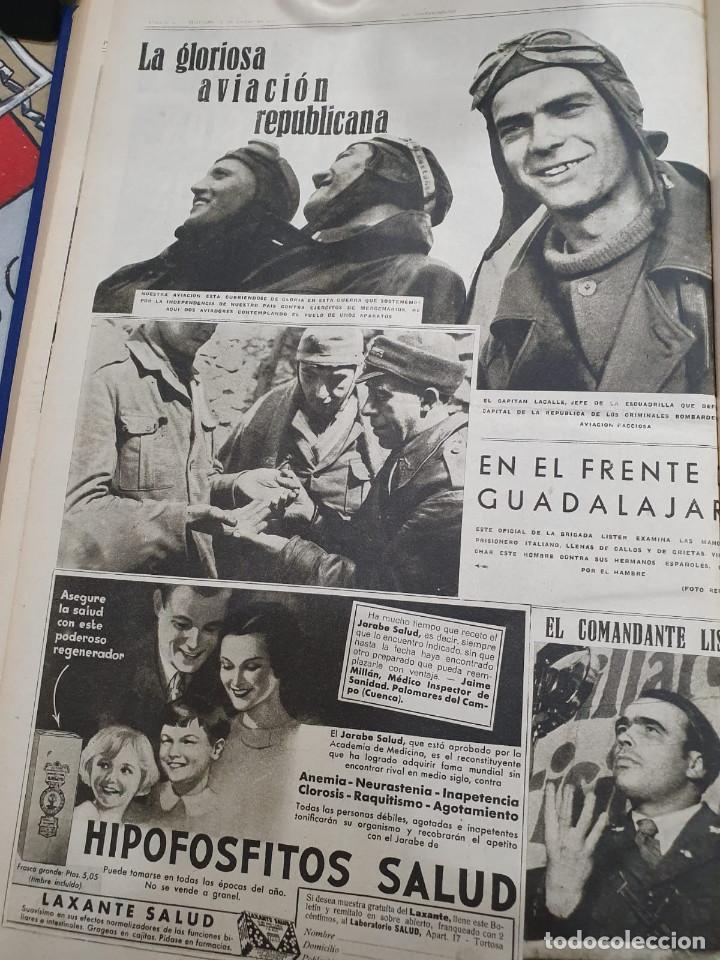 Libros antiguos: Tomo I con 75 notas gráficas La Vanguardia, del bando Republicano, muy buen estado, 1937 - Foto 45 - 167942420