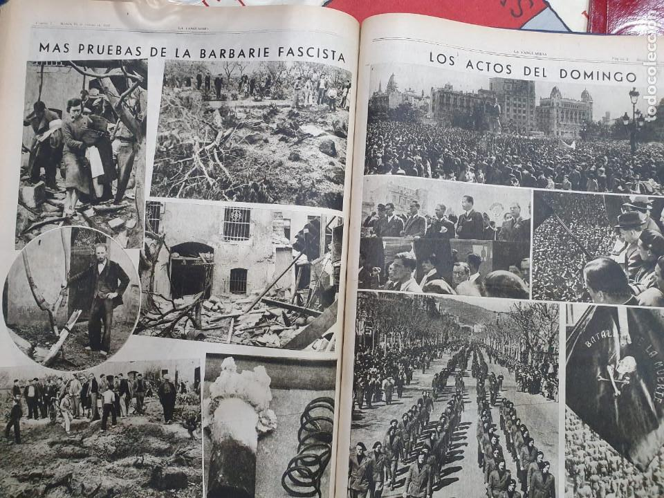 Libros antiguos: Tomo I con 75 notas gráficas La Vanguardia, del bando Republicano, muy buen estado, 1937 - Foto 47 - 167942420