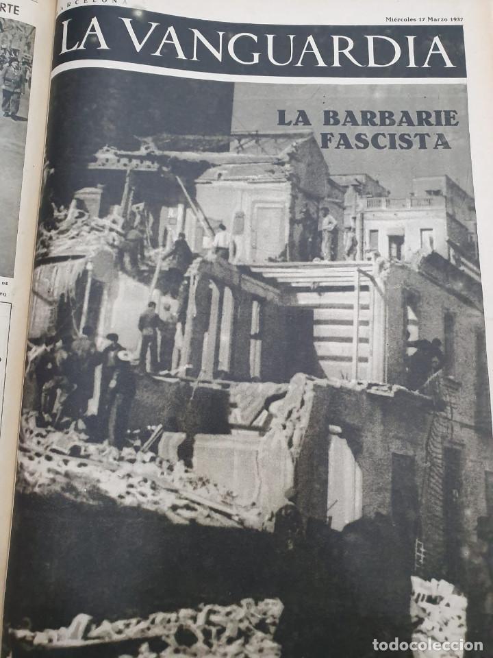 Libros antiguos: Tomo I con 75 notas gráficas La Vanguardia, del bando Republicano, muy buen estado, 1937 - Foto 48 - 167942420