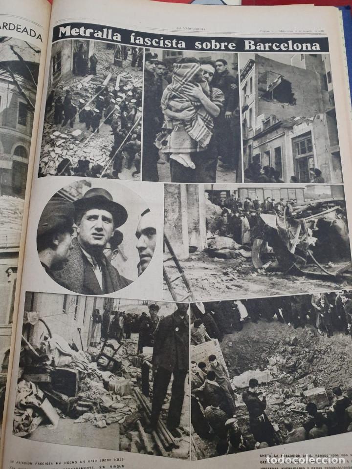 Libros antiguos: Tomo I con 75 notas gráficas La Vanguardia, del bando Republicano, muy buen estado, 1937 - Foto 49 - 167942420