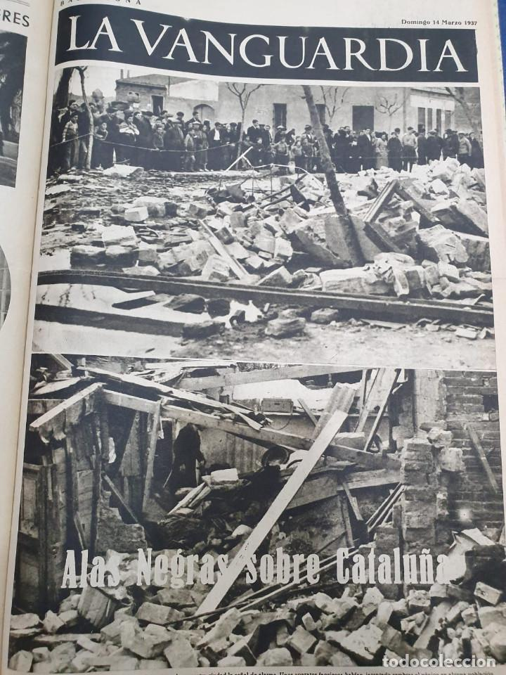 Libros antiguos: Tomo I con 75 notas gráficas La Vanguardia, del bando Republicano, muy buen estado, 1937 - Foto 50 - 167942420