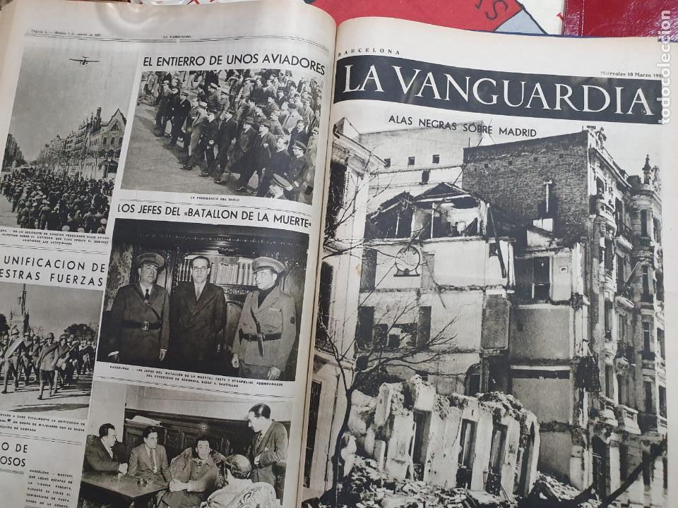 Libros antiguos: Tomo I con 75 notas gráficas La Vanguardia, del bando Republicano, muy buen estado, 1937 - Foto 52 - 167942420