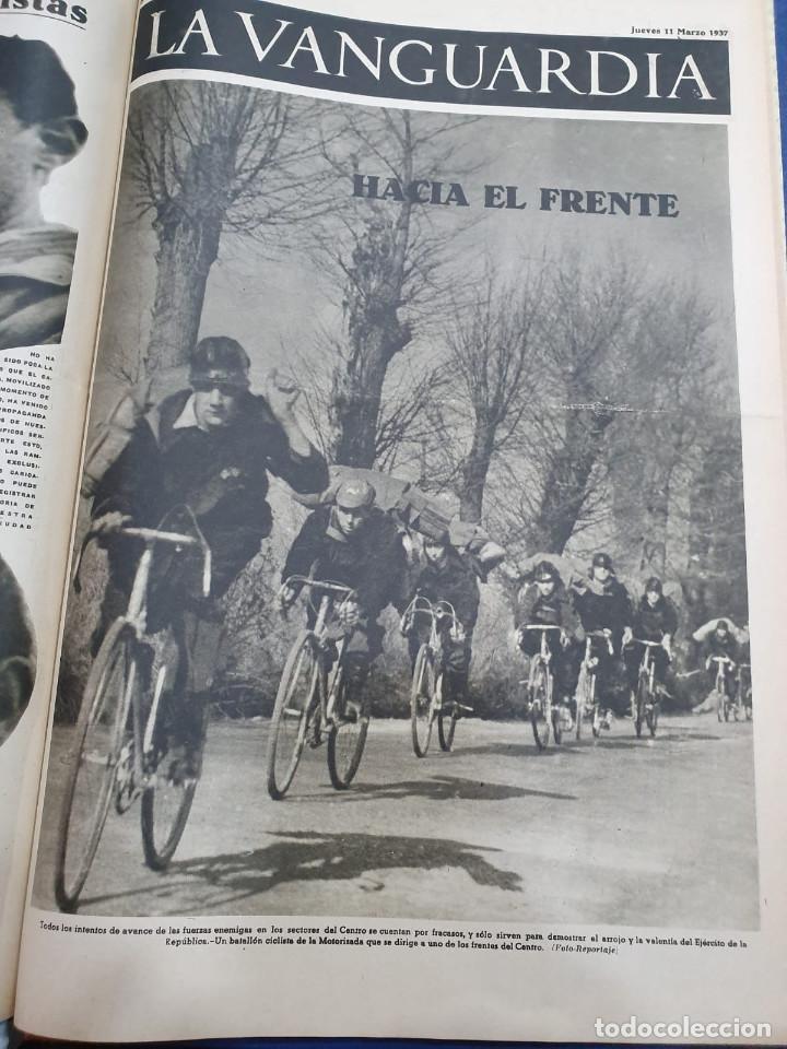 Libros antiguos: Tomo I con 75 notas gráficas La Vanguardia, del bando Republicano, muy buen estado, 1937 - Foto 53 - 167942420