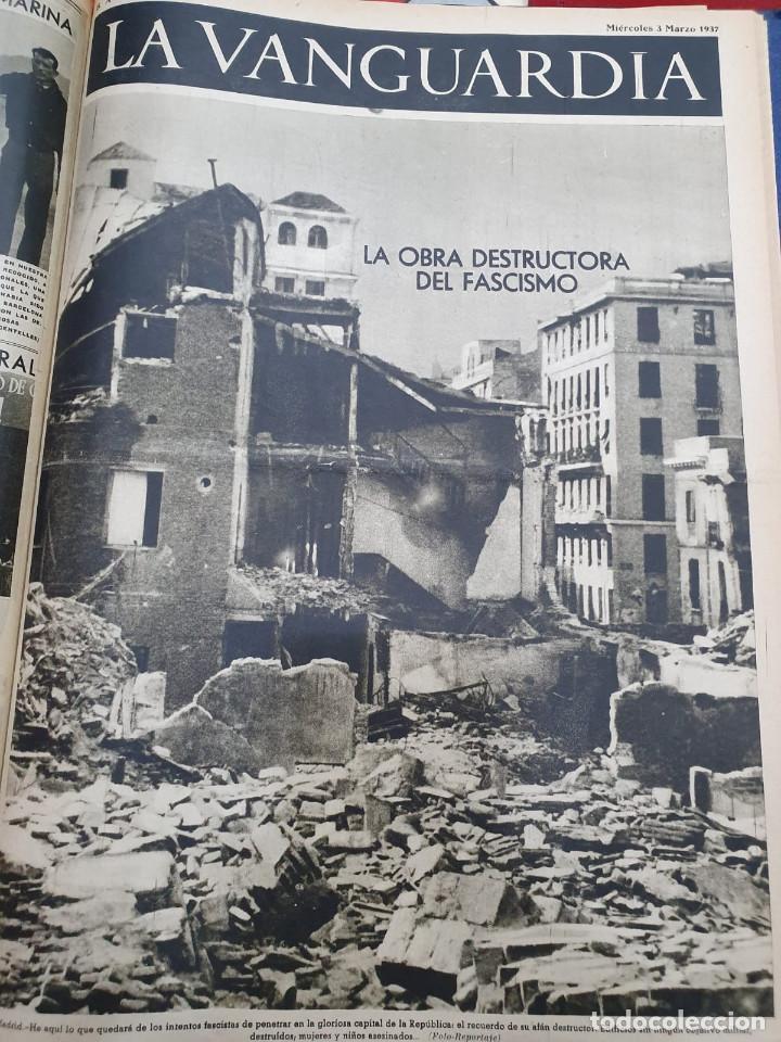 Libros antiguos: Tomo I con 75 notas gráficas La Vanguardia, del bando Republicano, muy buen estado, 1937 - Foto 54 - 167942420