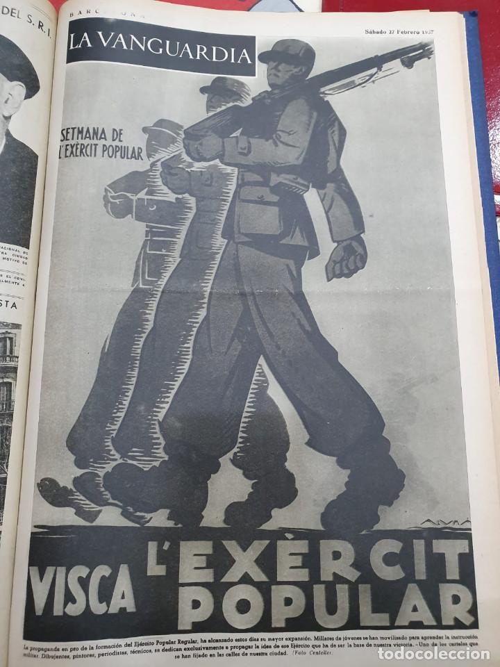 Libros antiguos: Tomo I con 75 notas gráficas La Vanguardia, del bando Republicano, muy buen estado, 1937 - Foto 55 - 167942420