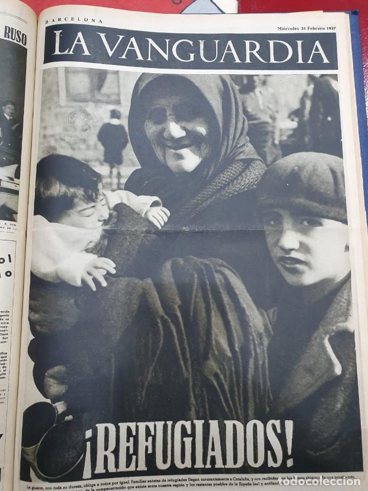 Libros antiguos: Tomo I con 75 notas gráficas La Vanguardia, del bando Republicano, muy buen estado, 1937 - Foto 58 - 167942420